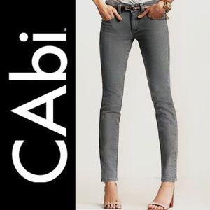 CAbi Gray Black Vintage Wash Jeans